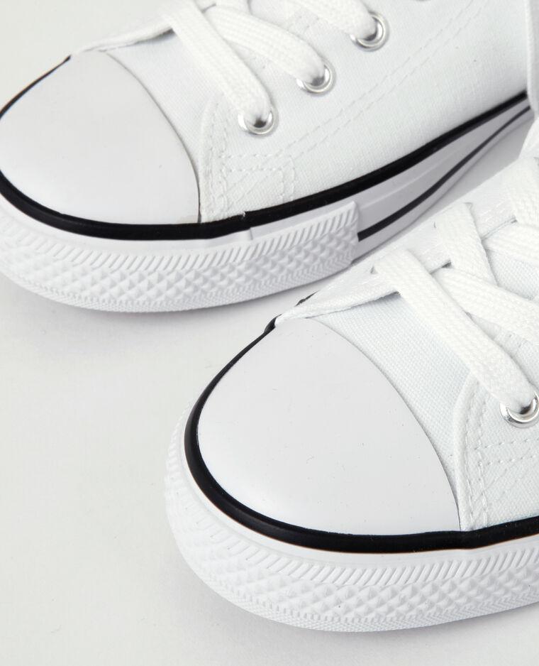 Deportivas de tela bordadas blanco