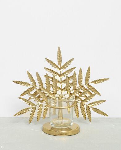 Kerzenhalter in Palmenblattform Gold