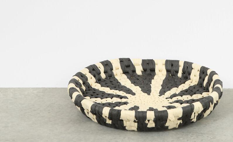 Korb im Berber-Stil zum Aufhängen Schwarz