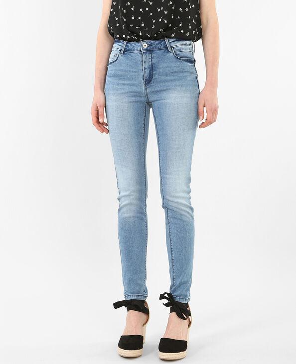 Jeans skinny push-up blu