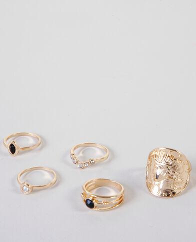 Set Ringe im Ethno-Stil Gold