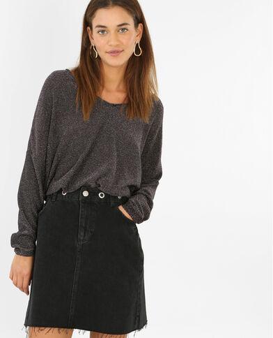 Pullover aus Lurex Schwarz