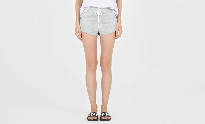 Molton-Shorts Schwarz