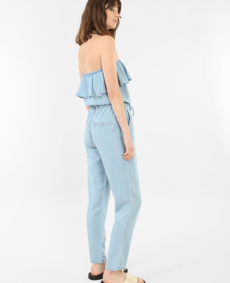 combi pantalon volants bleu 140286684a06 pimkie. Black Bedroom Furniture Sets. Home Design Ideas