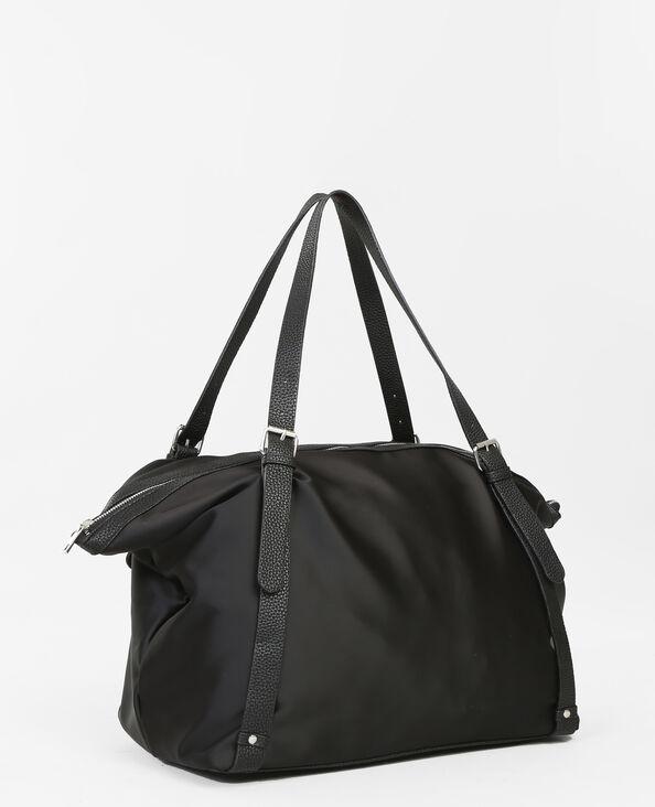 Sporttasche aus Materialmix Schwarz