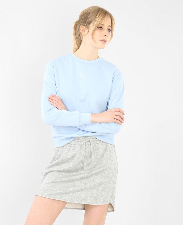 Sweatshirt mit Schriftzug Violett