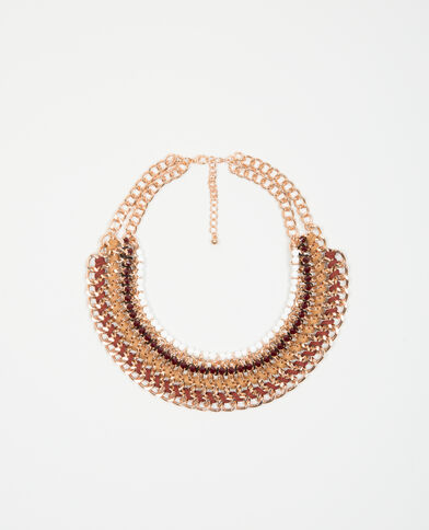Collier plastron orange