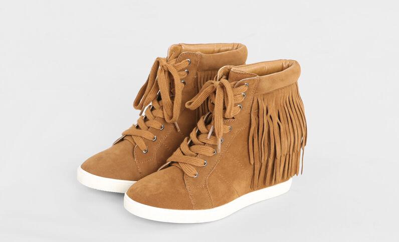 Zapatillas con plataforma marrón