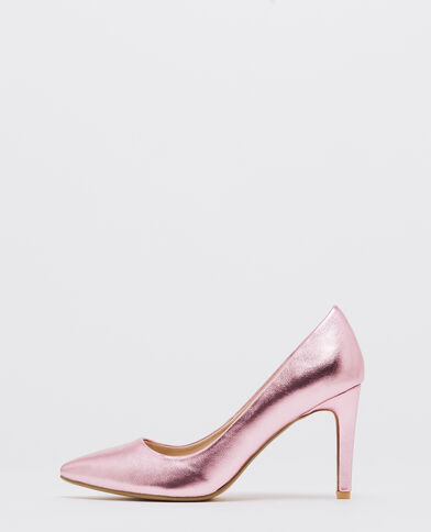 Pumps im Shiny-Look Rosa