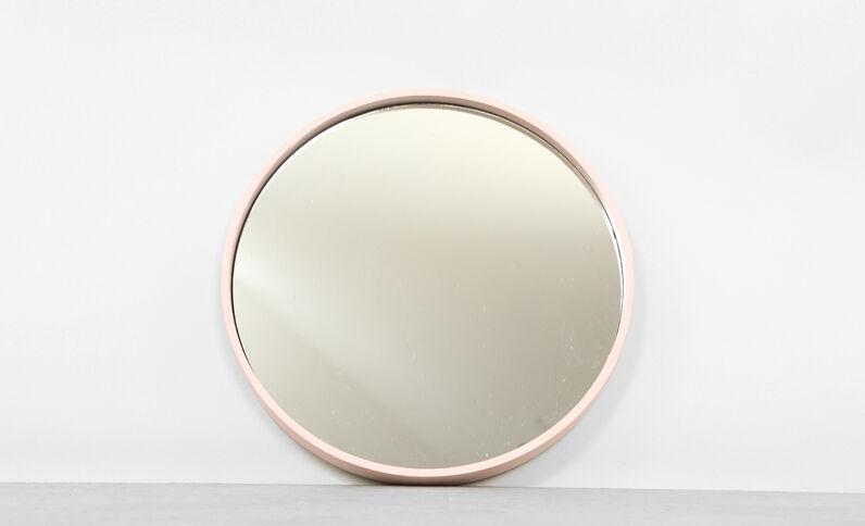 - Großer Spiegel, rund Rosa