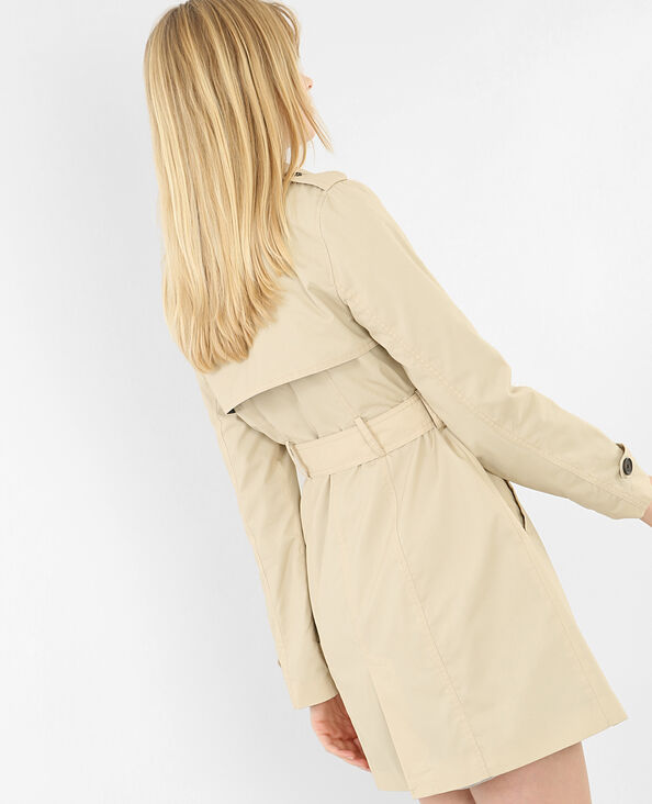 Trench basique beige chiné