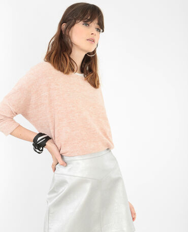 Pull ultra doux rose poudré