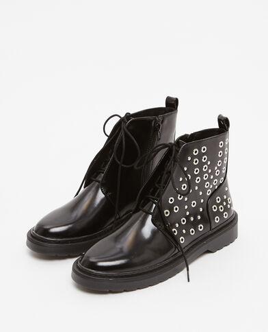 Ranger-Boots mit Nieten Schwarz