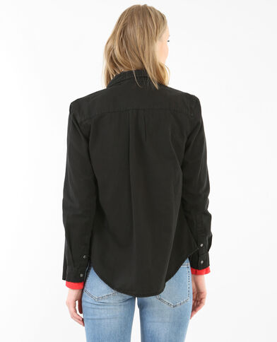 Chemise jean noir