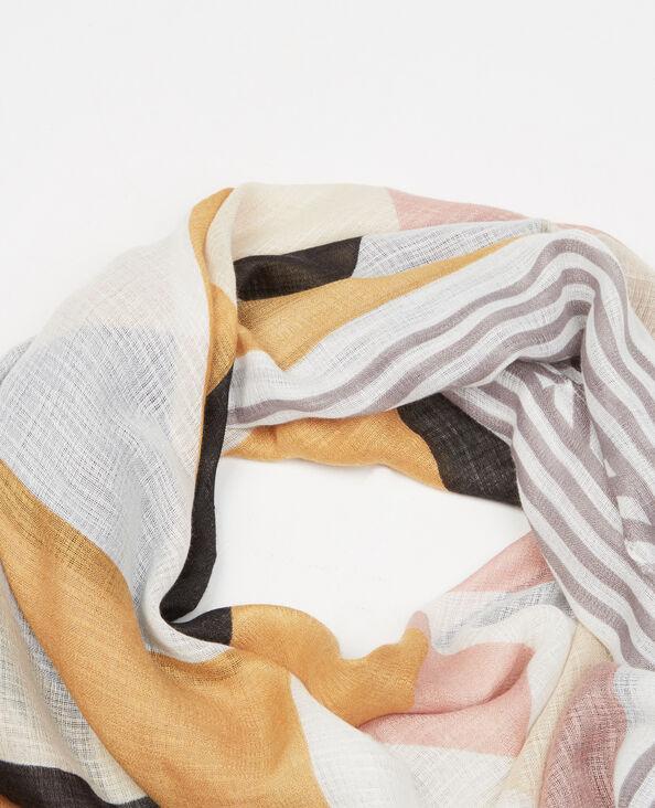 Halstuch Color-Block-Stil mit Troddeln Gelb
