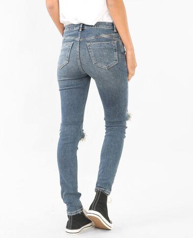 Jeans push up destroy blu delavato