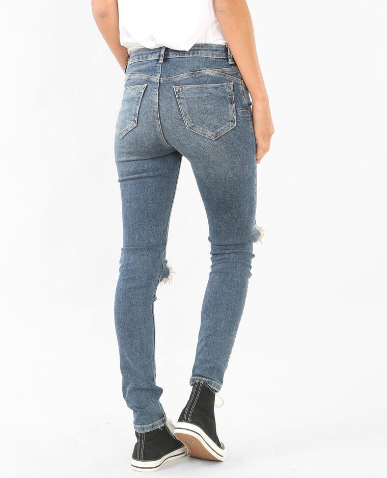 destroyed jeans mit push up effekt ausgewaschenes blau. Black Bedroom Furniture Sets. Home Design Ideas