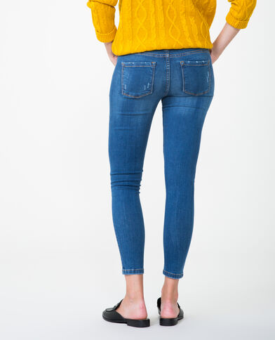 Destroyed jegging blauw