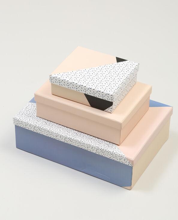 Lotto da 3 scatole rosa