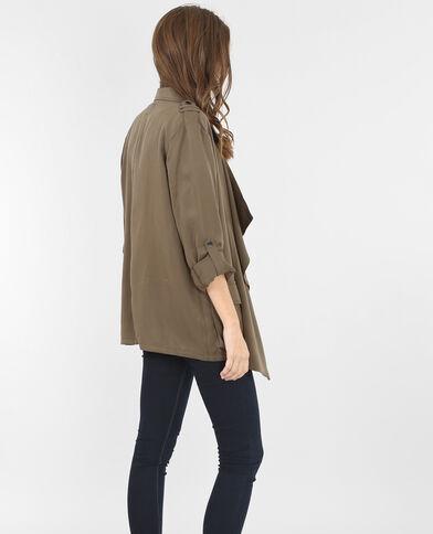 Weich fließende Jacke in Khaki Khaki