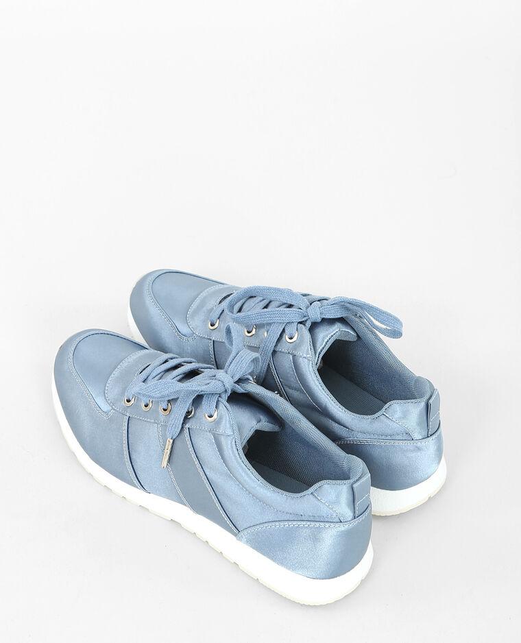 Zapatillas satinadas azul