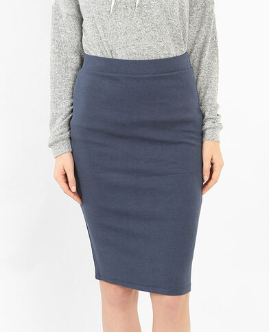 Gonna midi bodycon blu grezzo