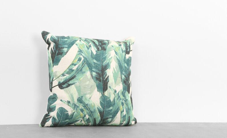 Coussin imprimé tropical vert