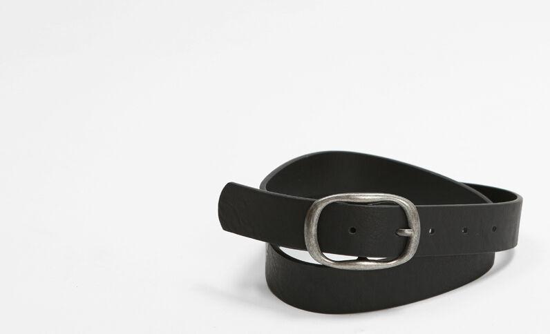 Gürtel mit ovaler Schnalle Schwarz