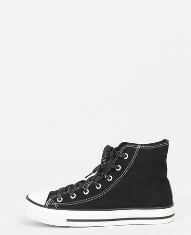Zapatillas de tela negro