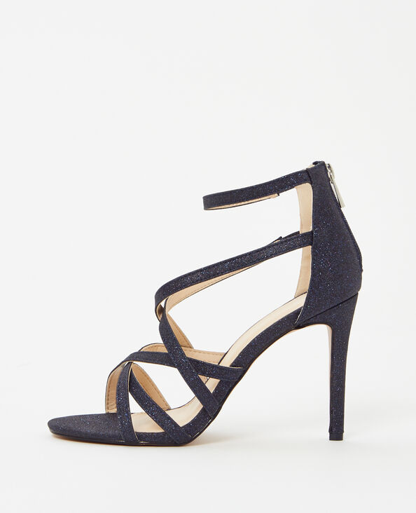Stiletto-Sandalen Blau