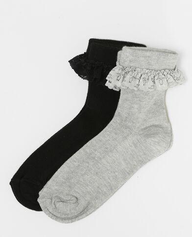 Lot de chaussettes dentelle noir