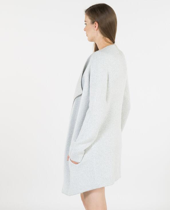 Cardigan caldo con lembi grigio chiné