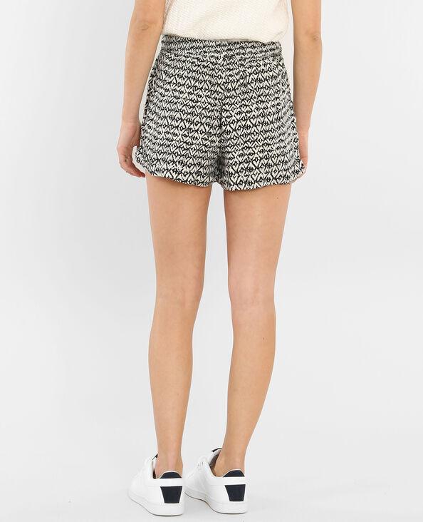 Fließende Shorts mit Print Weiß