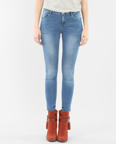Skinny 7/8 bleu denim