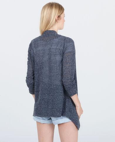 Vest met panden marineblauw