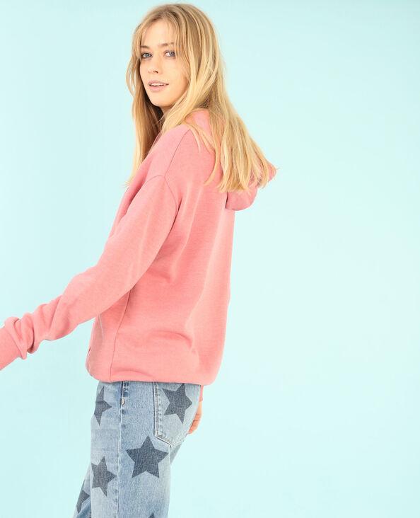 Sweatshirt mit Kapuze Rosa