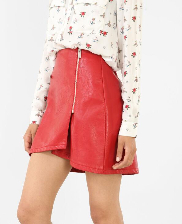 Minirock aus Kunstleder Rot