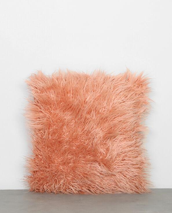 Cojín de pelo largo rosa maquillaje