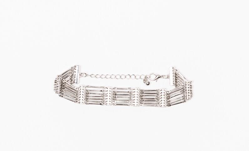 Armband met verschillende snoeren zilvergrijs