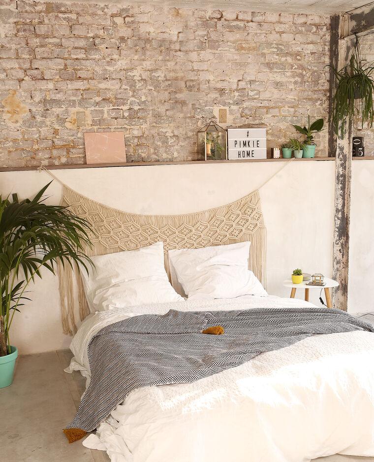 t te de lit macram blanc cass 902996912a09 pimkie. Black Bedroom Furniture Sets. Home Design Ideas