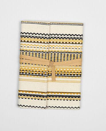 Notizbuch mit Jacquard-Muster Bronze