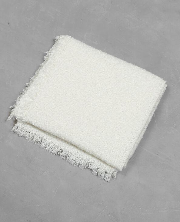 Plaid-Decke in Boucle-Optik Beige