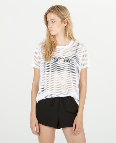T-shirt filet blanc