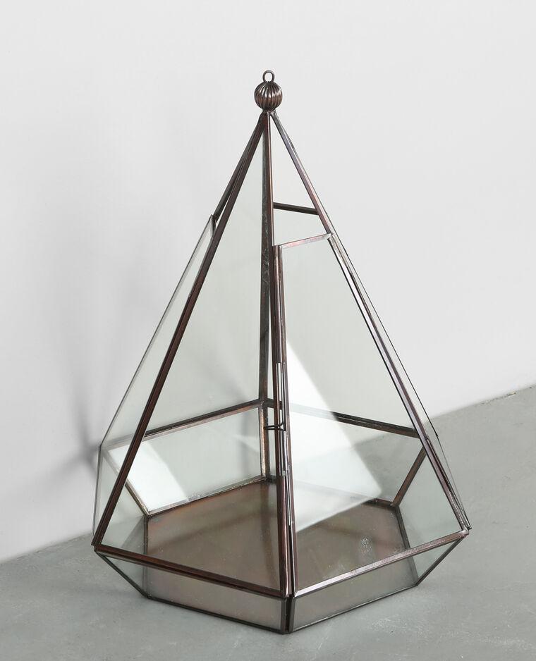Hex gono de cristal y metal bronce 975012897a0g pimkie - Pegar cristal y metal ...