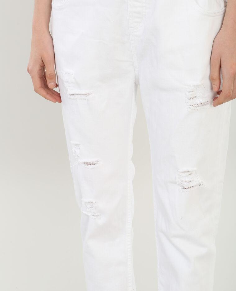 jeans latzhose im destroyed look wei 140290900a09 pimkie. Black Bedroom Furniture Sets. Home Design Ideas