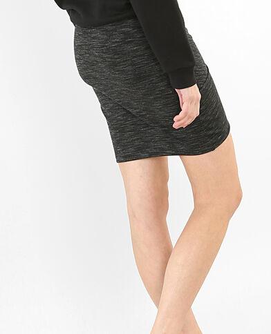 Minigonna bodycon grigio chiné