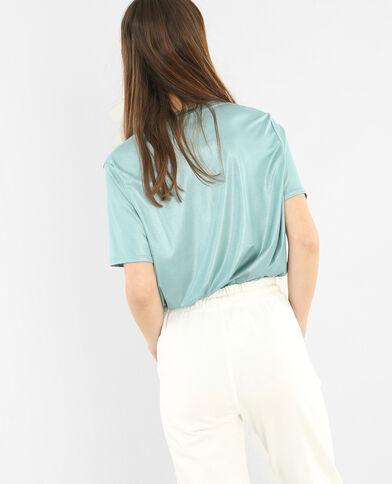 Camiseta irisada azul
