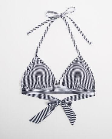 Triangel-Bikinioberteil Naturweiß