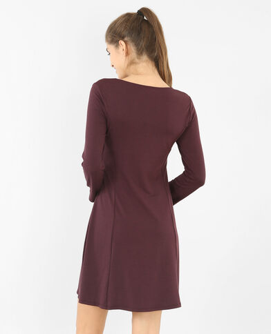 Robe trapèze Bordeaux