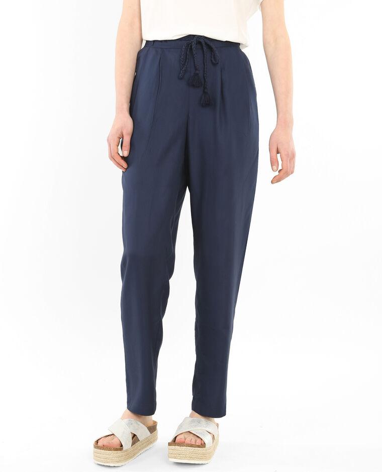pantalon fluide bleu marine 140226635a06 pimkie. Black Bedroom Furniture Sets. Home Design Ideas